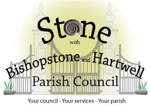 Stone with Bishopstone and Hartwell Logo